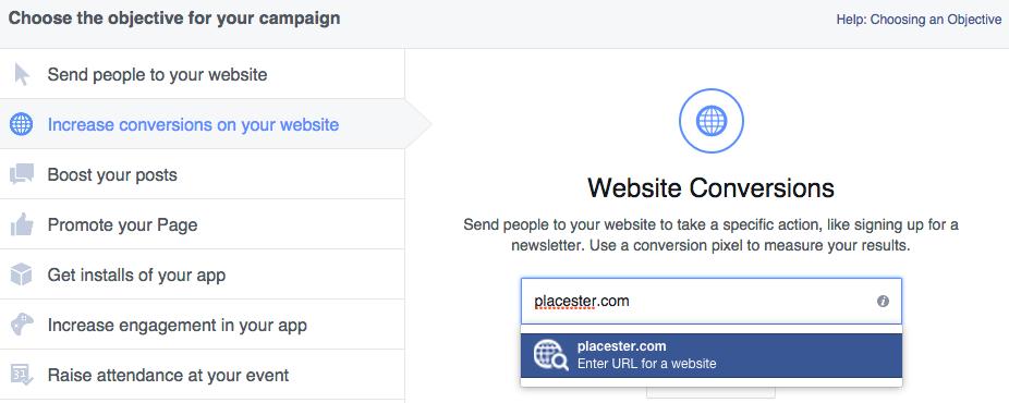 Facebook-Ad-Website-Conversions-Choose-URL